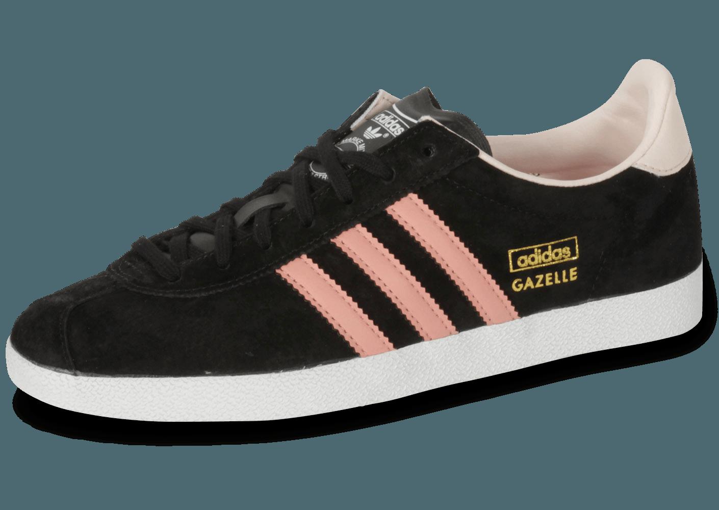 adidas gazelle femme noir et rose