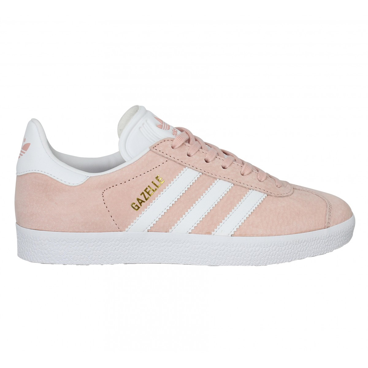 adidas gazelle grise et rose femme