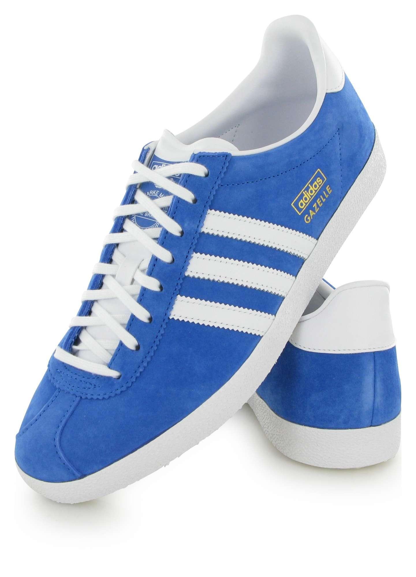 adidas gazelle bleu et marron