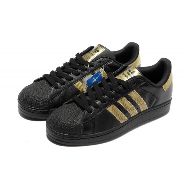 adidas superstar homme noir et or