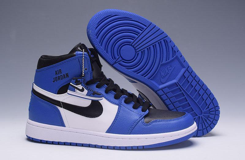 air jordan 1 mid bleu et blanc