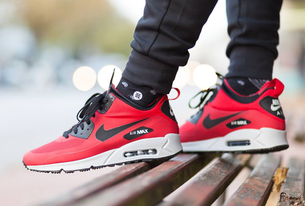 nike air max 90 mid winter rouge homme