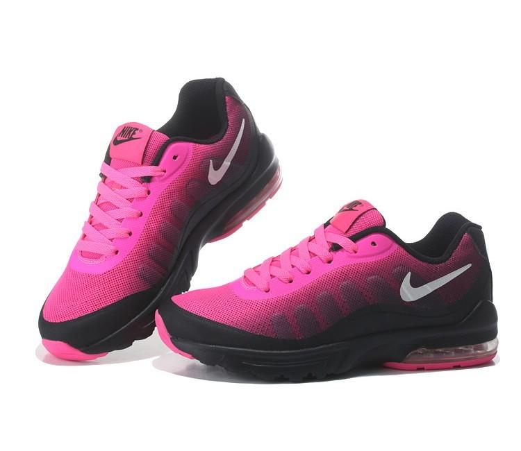 basket nike air max femme rose et noir