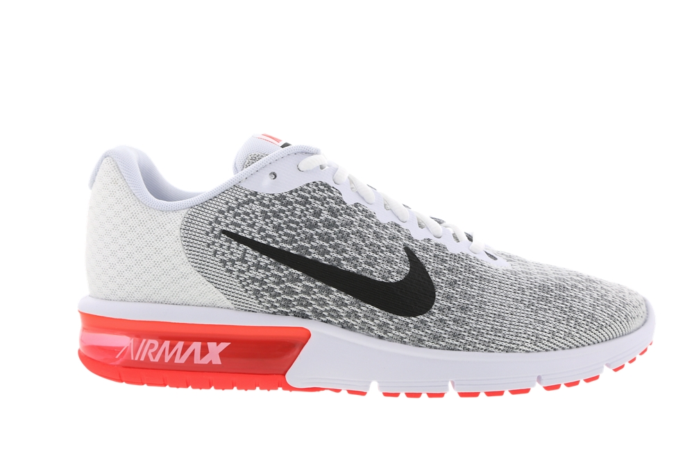 nike air max sequent 2 junior white and red