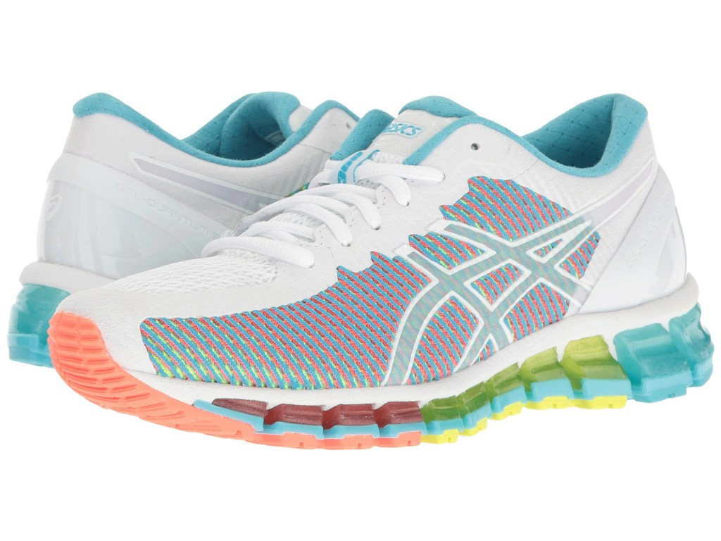 asics fluo blanche