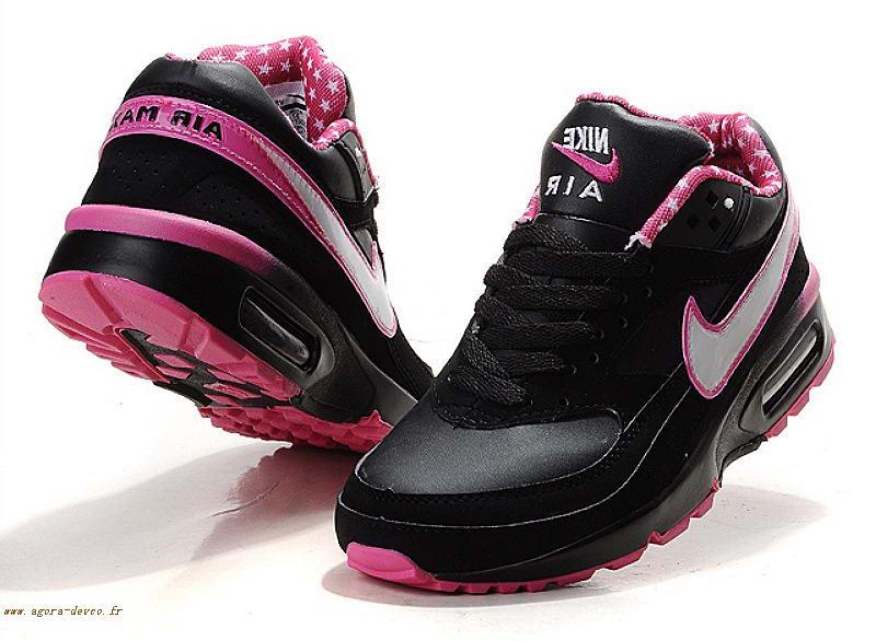 nike air max femme noir et rose